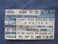 Phish, Allstate Arena, 9/22/2000, 30.50