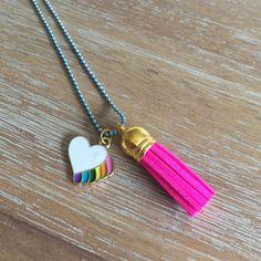 Rainbow Heart Tassel Necklace | Livvi's Rainbow for Charity