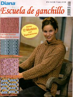 Lots of ladies' clothing patterns. white tunic in particular - `Spanish but with chart Knitting Books, Crochet Books, Lace Knitting, Knitting Stitches, Knitting Ideas, Knitting Magazine, Crochet Magazine, Crochet Motif, Crochet Patterns