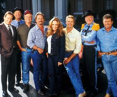 The Dukes of Hazzard. Reunion movie (I may have made a mistake This might be from Hazzard goes to Hollywood) 80 Tv Shows, Movies And Tv Shows, I Movie, Movie Stars, Dukes Of Hazard, John Schneider, Catherine Bach, Daisy Dukes, Movies