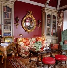 Interior Designer Charles Faudree: French Flair - Traditional Home® love the bookcases Decor, French Country House, Interior, French Country Decorating, Traditional House, Country Decor, Country Interior, House Interior, Interior Design