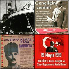 Mustafa Kemal Atatürk'ün önderliğinde, Türkiye Cumhuriyeti'nin temellerinin atıldığı, özgürlüğü uğruna binlerce canın verildiği, inanç ve şerefin ışığı 19 Mayıs Atatürk'ü Anma Gençlik ve Spor Bayramımız Kutlu olsun.  #19MayısAtatürküAnmaGençlikVeSporBayramı #19Mayıs #MustafaKemalAtatürk