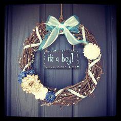 Gender reveal wreath