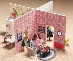 Little Green Notebook: DIY Dollhouse - can be stored flat!