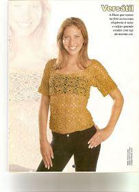 Crochet patterns: Crochet Easy Lovely Top - Square Flower Motif