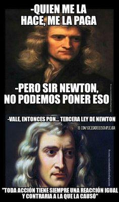 La 3ra ley de newton todo un loquillo