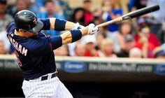 Minnesota Twins' Josh Willingham connects on a solo home run in the second inning of a baseball game against the Okland Athletics on Friday, July 13, 2012, in Minneapolis. Willingham hit another home run in the fourth inning