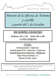 Horario de la Oficina de #Turismo y Castillo de #Frías #Merindades