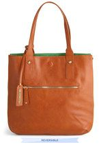 Role Reversal Bag in Cognac and Green | Mod Retro Vintage Bags | ModCloth.com