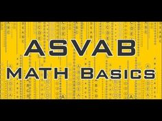 Here is a video that helps you learn more about the math basics that are included on the ASVAB exam. http://www.myasvabsecrets.com #asvab #mometrix