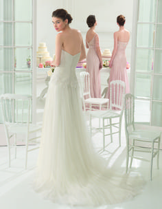 Aire Barcelona 2015 Bridal Collection - Abel (back) - Available at Stella's Bridal & Evening Collections