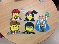 Lego Movie characters perler beads by Amanda Collison