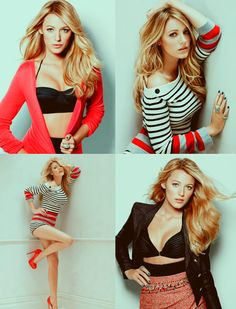 I love stripes.  I love Red.  If I weren't Asian, I'd want to look like Blake Lively.