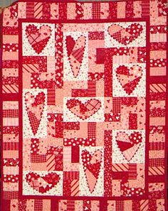 Super cute Valentine quilt!  If I had the time I would love to make this quilt. One of the most beautiful quilts I have ever seen.  Love love love it!!!!
