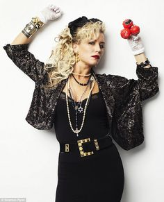 1980s style women - The average woman did not walk down the street looking like this, but if you look for 80's fashion, this is what you find!