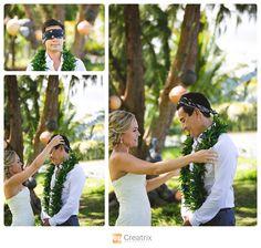 www.creatrixphotography.com | Hawaii Wedding Photography #oahu #hawaii #estateweddings #palmtrees #ocean #firstlook