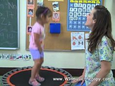 Music Therapy & Sensory Integration 4Jumping on a trampouline