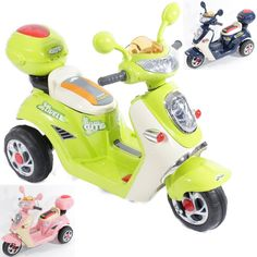 Charles Jacobs Ride on Kids Motorcycle Electric Scooter Motorbike 6V Battery Operated Toy Bike (Green): Amazon.co.uk: Toys & Games