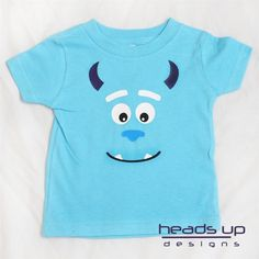 Monsters Inc Sulley Shirt Boy Girl Baby Adult Toddler Onesie Available Sully | eBay