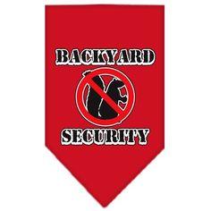 Backyard Security Screen Print Bandana Red Large