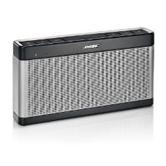 The SoundLink Bluetooth speaker III is our best-performing mobile Bluetooth speaker. It plays louder and longer than its popular predecessor, with advanced Bose technologies that reproduce the fullness, clarity and depth of your music.