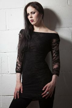 Lace Black Dress by Spiral Direct   Ladies Gothic Clothing