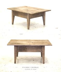 A Pierre Cronje Lounge Coffee Table in roughsawn French Oak with a blackwash finish.