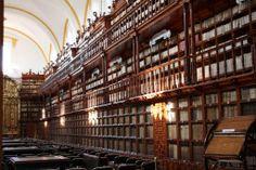 BIBLIOTECA PALAFOXIANA, PUEBLA, MEXICO Mexico's first public library, Biblioteca Palafoxiana was founded in 1646 by book-loving bishop Juan de Palafox y Mendoza. It wasn't completed until 1773.