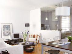 Estructura de cristal - Con cocina integrada - Salon comedor - Decoracion interiores - Interiores, Ambientes, Baños, Cocinas, Dormitorios y habitaciones - CASADIEZ.ES