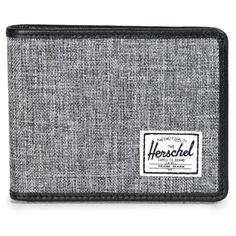 Men's Herschel Supply Co. 'Taylor' Wallet ($24) ❤ liked on Polyvore featuring men's fashion, men's bags, men's wallets, wallet, raven, mens billfold and mens wallets