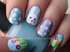 15 Adorable Easter Nail Designs With Bunnies... I LOVE this design!! Super CUTE! :-)