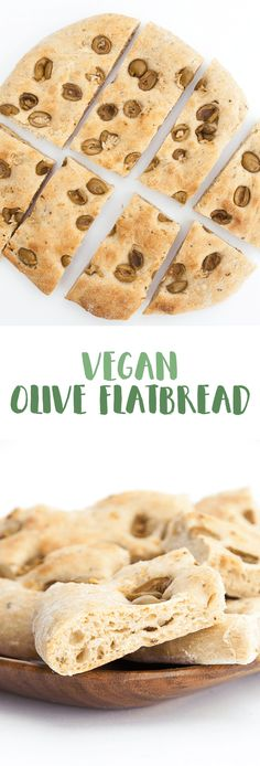 Flavorful Olive Flatbread (vegan) via @elephantasticv
