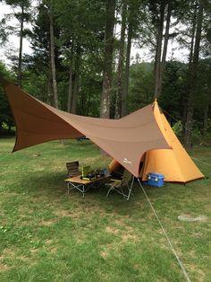 きゃべつ太郎のファミリーキャンプ:初張り! ノースイーグル ワンポールテント300 Camping Water, Best Tents For Camping, Cool Tents, Camping List, Tent Camping, Camping Gear, Outdoor Knife, Outdoor Gear, Lightweight Tarp