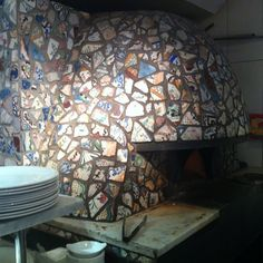 Same tiles used to embellish the Pizza Oven