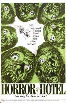 Horror Hotel one sheet movie poster. Jack Davis artwork.