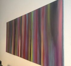 DIY colorful abstract painting
