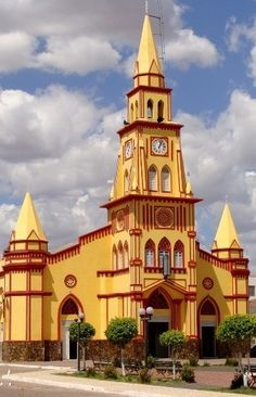 Catholic Church Igreja Católica do Sagrado Coração de Jesus in Brejo Santo. Ceará, Brazil