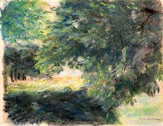 The Wannsee Garden, View on the Hedge Gardens, Study, Max Liebermann, 1924