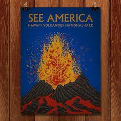 Hawaii Volcanoes National Park by Kirk for See America - 1