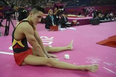 <b>Fabian Hambüchen, Sebastian Krimmer, Marcel Nguyen, Andreas Toba and -- most of all -- Philipp Boy, are the male German gymnasts this year.</b> In the heat of the night on Saturday evening, the world discovered their supreme hotness and matching haircuts.