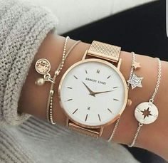 40 Sophisticated Wrist Watches For Women Whose Fashion Is Timeless – Page 3 – Style O Check.I like the bracelets Cute Jewelry, Silver Jewelry, Silver Ring, Silver Earrings, Pearl Necklace, Pearl Jewelry, Jewelry Necklaces, Gold And Silver Bracelets, Earrings Uk