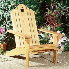 Folding Adirondack Chair - Paper Plan
