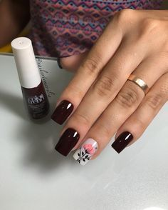 Gorgeous Nail Art Designs 2019 - style you 7 Shellac Nails, Manicure And Pedicure, My Nails, Acrylic Nails, Wedding Manicure, Black Nail Designs, Nail Art Designs, Trendy Nails, Cute Nails