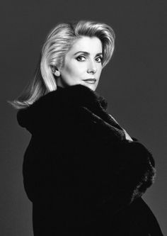 Blackgama campaing 1989. Catherine Deneuve by Richard Avedon
