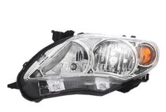HEADLAMP ASSEMBLY W/CHROME HOUSING LEFT DRIVER LH NEW 11-13 TOYOTA COROLLA #NEWAFTERMARKET