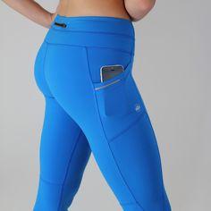 6081a27e02057 Pocket exercise Capris - Royal Blue 2 side pockets and a back pocket.  Workout in