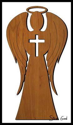 Scrollsaw Taller: Ángel de la Guarda de la puerta Topper Scroll Saw Patrón.