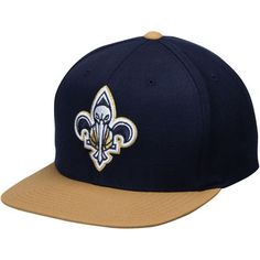 the best attitude adc75 981df Men s Mitchell   Ness Navy Gold New Orleans Pelicans Hook Snapback  Adjustable Hat