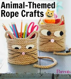 Hit up the hardware store this weekend to start your children on these fun, easy-to-make, and kid-friendly DIY projects using rope. Craft these animal-themed projects together as a family and make memories together!