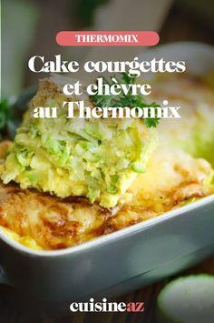 Le cake courgettes et chèvre est une recette facile de pâtisserie à préparer à l'aide du Thermomix. #recette#cuisine #patisseriesalee #cake #courgette #chevre #robot #robotculinaire #thermomix